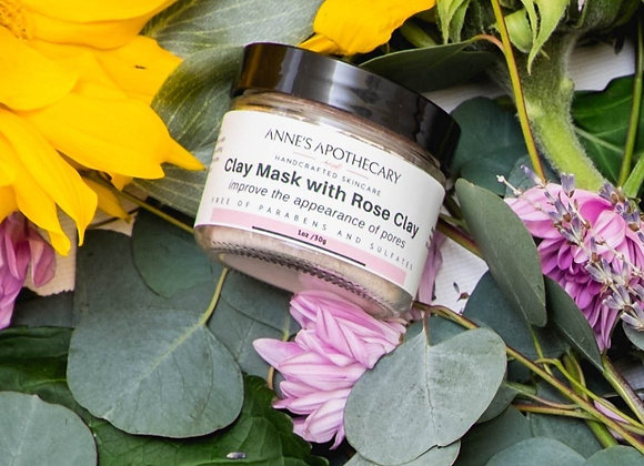 Anne's Apothecary Rose Clay Mask