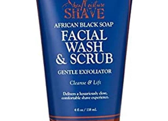 Shea Moisture Men's Facial Wash & Scrub