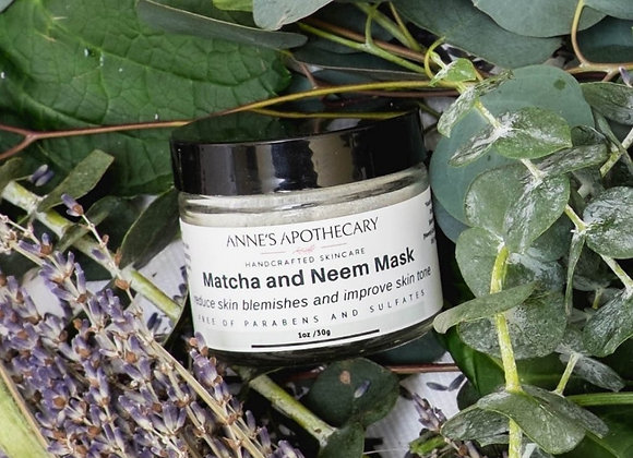 Anne's Apothecary Matcha and Neem Mask