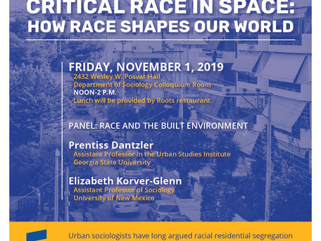 Presented at the University of Pittsburgh's Symposium on Critical Race in Space