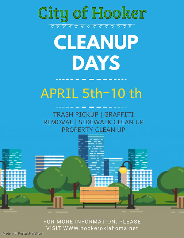 Copy of Blue Community Cleanup Event Fly