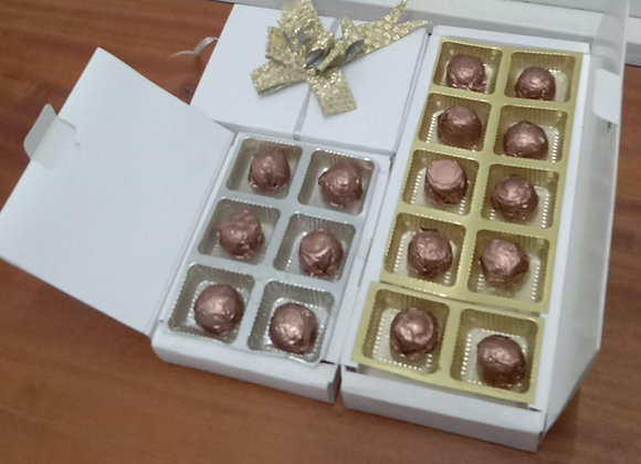 Coffee chocolate with gift boxes