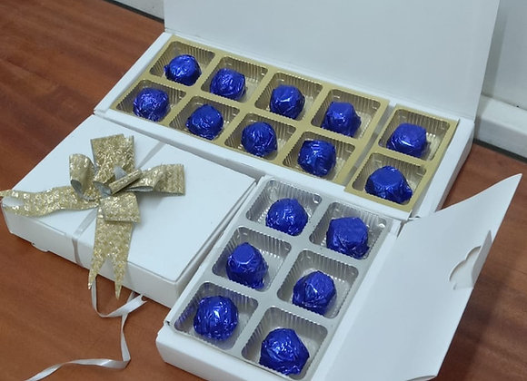 Milk chocolate with gift boxes