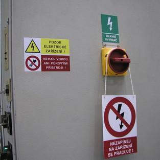 Bezpečnostní značení rozvaděče