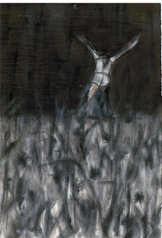 Untitled, Charcoal on Paper, 2012