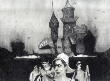Eurodisney, pencial on paper, 30x40 cm