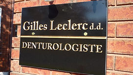 Gilles Leclerc denturologiste bureau Frigon drummondville