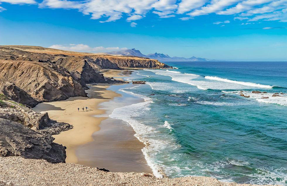 Surfstrand an der Westküste von Fuerteventura