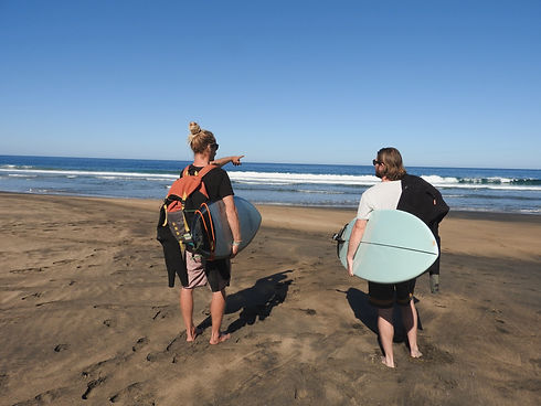 Privates Surfcoaching am Strand