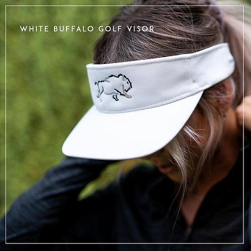 WHITE BUFFALO GOLF VISOR