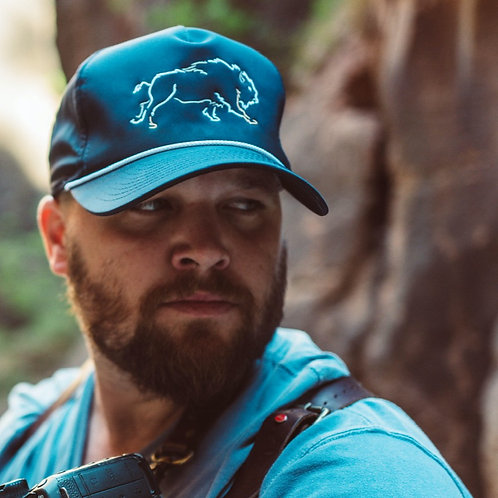 """WHITE BUFFALO """"COUNTRY CLUB"""" HAT -NAVY"""