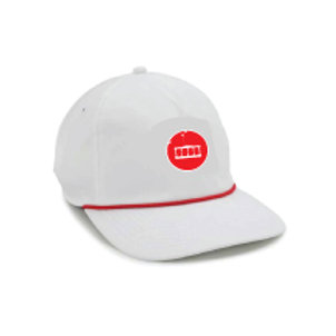 Boat Hat [White w/Red MFF Icon]