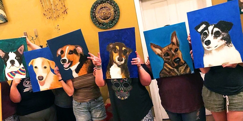 Painted Paws Party / New Orleans Bulldog Fundraiser