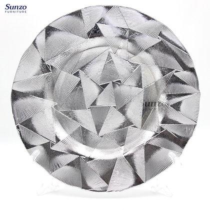 Wedding Glass  Charge Plates SZ-3022