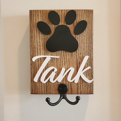 Custom Dog Leash Rack