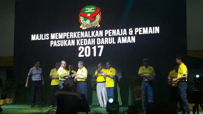 MAJLIS MEMPERKENALKAN PENAJA DAN PELANCARAN PASUKAN KEDAH DARUL AMAN 2017 BERLANSUNG PENUH MERIAH