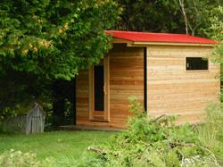 Prefab sauna with window