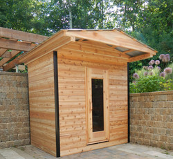 Prefab sauna in town