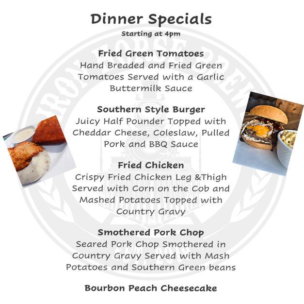 Dinner specials 16-17th