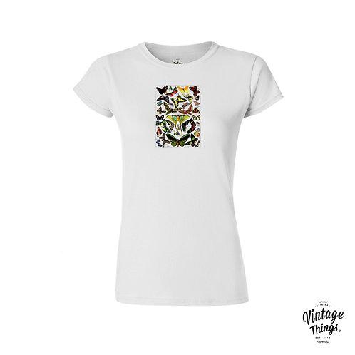 Butterflies Table - White - Woman - T-Shirt