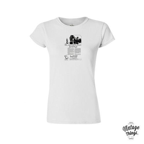 San Diego - White - Woman - T-Shirt