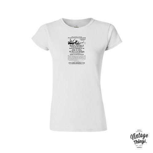 Mediterranean Jouney - White - Woman - T-Shirt