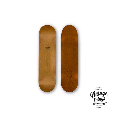 Skateboard - Vintage Logo - Natural Wood - #3
