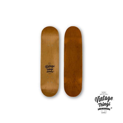 Skateboard - Vintage Logo - Natural Wood