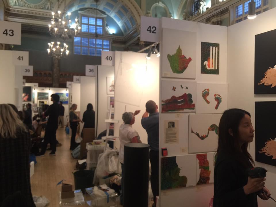 Parralax art show Chelsea London