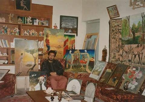 Simko at his studio in Kurdistan, 1995