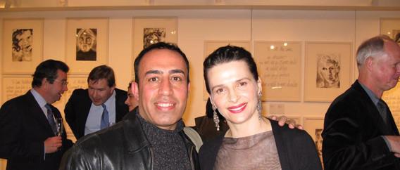 Simko with Hollywood star Jullet Benoje