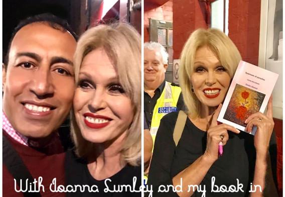 Simko with Joanna Lumley