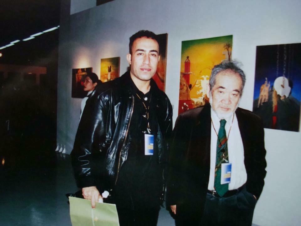 Simko with Harui Ichiro, at Kwuangju Beinalle 2000