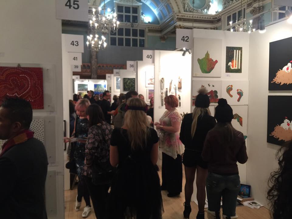 Parralax art fair at Chelsea town hall London