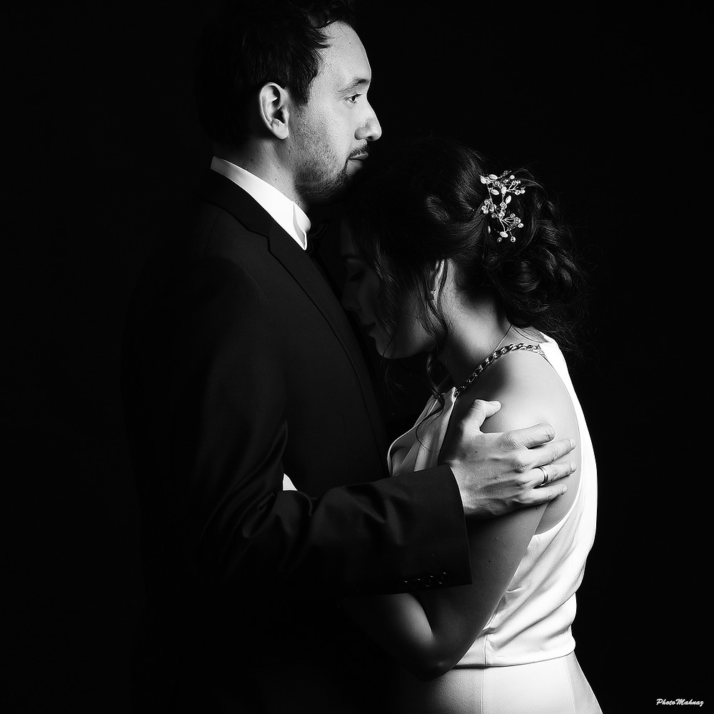 Low Key Wedding Photography With Black Background