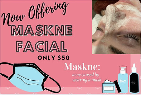 maskne facial $50