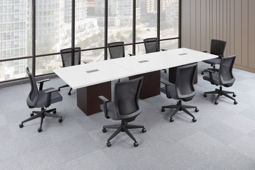 Square Laminate Conference Tables W Cube Base - Affordable conference table