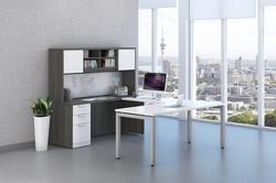 Newport Grey & White Elements Desk