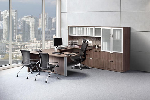 Executive Bullet U-Shape Desk with Optional Storage/Lateral File