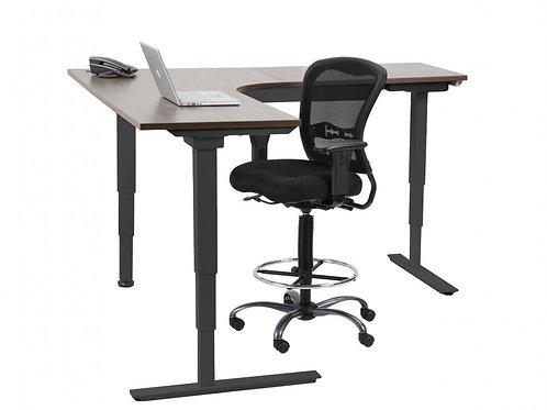 Radiused Corner Electric Height Adjustable Table