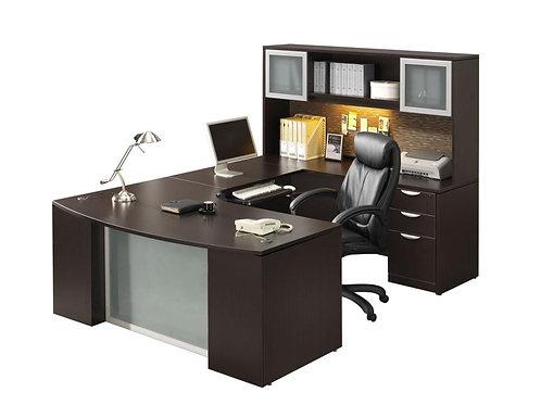 Executive Bow-Step Front U-Shape Desk