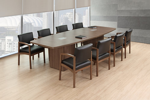Boat Shaped Laminate Conference Tables w/ Cube Base