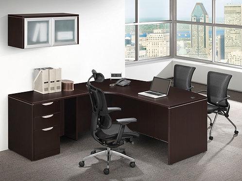 Classic Bow Front L-Shape Desk