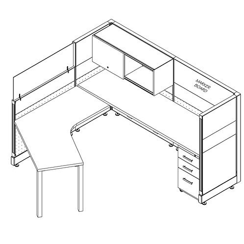 7x7.5 Individual Workstation