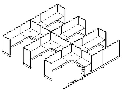 6x8: 6-Pack L-Shape
