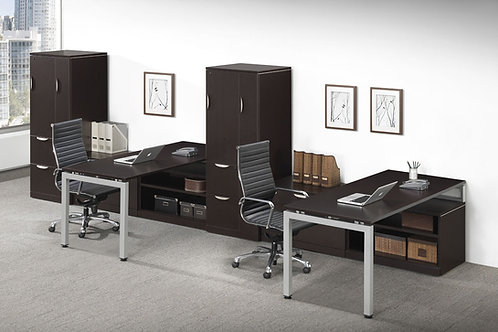 Elements Desks with Optional Storage Cabinet