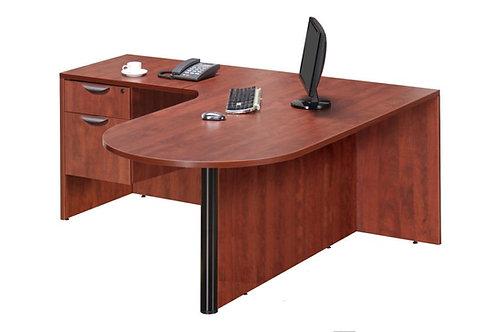Classic Bullet L-Shape Desk