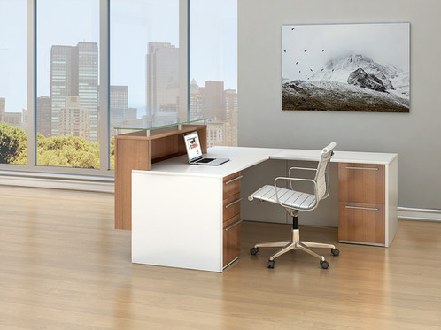 This Maverick Series Desk Features Two Toned Laminate Along With Designer Hardware 20 Standard Colors To Select From And 9 Hardward Choices In Either