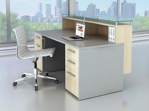 Maverick Dual Pedestal Reception Desk