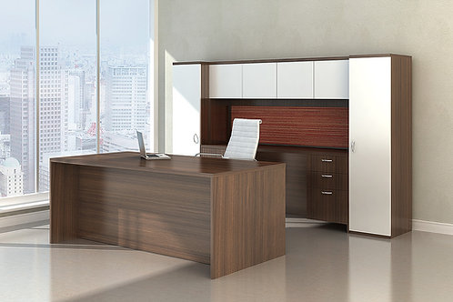 Maverick Desk + Credenza/Wall Cabinet w/ Optional Storage Cabinets